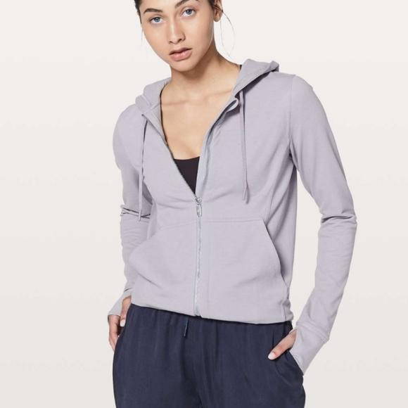Lululemon Press Pause Jacket in Lavender Gray